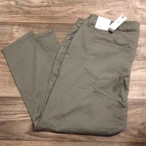 NWT! Size 20P LB Mid-rise Skinny Green Jeans/Pants